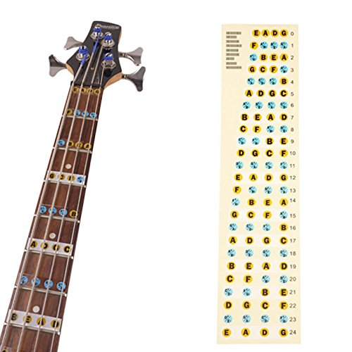 4 string bass fretboard fret notes stickers neck key maker notes pro mired. Black Bedroom Furniture Sets. Home Design Ideas